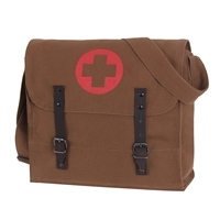 Rothco Brown Vintage Medic Bag w Medics Cross 8586