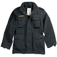Rothco Black Vintage M-65 Field Jacket - 8608