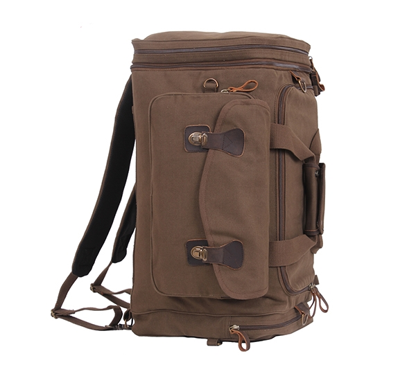 Rothco 8779 Brown Canvas Extended Stay Travel Duffle Bag ... 90272afcf7ae0