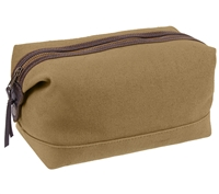 Rothco Coyote Canvas And Leather Travel Kit - 91260