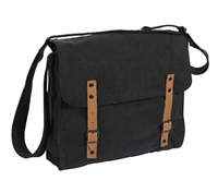 Rothco Black Vintage Canvas Medic Bag - 9127