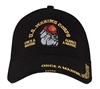 Rothco Black Marines Bulldog Cap - 9339