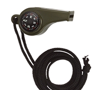 Rothco Olive Drab Whistle Compass & Thermometer - 9401