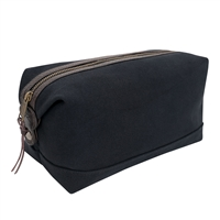 Rothco Black Canvas And Leather Travel Kit 9688