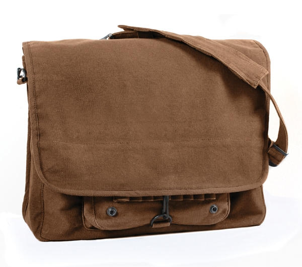 38c395e924 Rothco Brown Vintage Canvas Paratrooper Bag - 9728. View Larger Photo