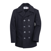 Schott Navy Wool Pea Coat - 740