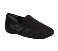 Zig-Zag Black Mesh Slip On - 7207