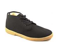 Zig-Zag Black Chukka Mid Top Shoes - 7218