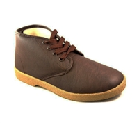 Zig-Zag Brown Leather Chukka Shoes - 7219