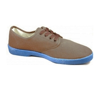 Zig-Zag Brown Sneaker with Blue Sole - 7222