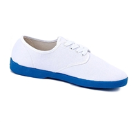 Zig-Zag White Sneaker with Blue Sole - 7222