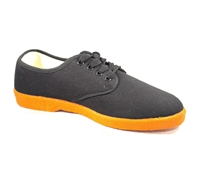 Zig-Zag Black Sneaker with Orange Sole - 7223