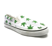 Zig-Zag Bud Print Slip on Shoes - 7239