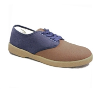 Zig-Zag Brown and Navy Oxford Shoes - 7251