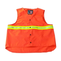Snap N Wear Safety Vest with Reflective Trim - DSV390