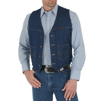 Wrangler Unlined Denim Vest 74130PW
