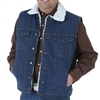 Wrangler Sherpa Lined Denim Vest - 74131PW