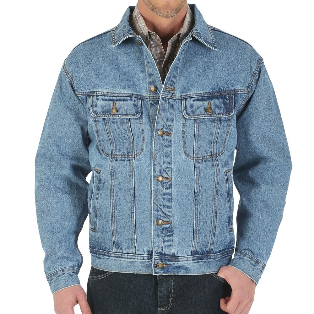 compare price price reduced 50% off Wrangler Vintage Indigo Denim Jacket - RJK30VI