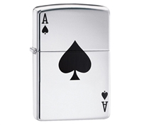 ZIPPO Lucky Ace Polished Chrome  Lighter 24011