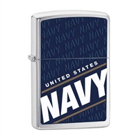 Zippo Blue US Navy Lighter 24813