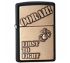 Zippo 28368 1St To Fight Zippo Lighter Black Crackle