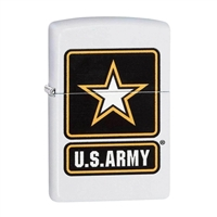 Zippo 29389 US Army Star White Matte Lighter