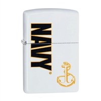 Zippo White US Navy Seal Lighter 29761