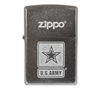 ZIPPO Army Logo Brush Finish Chrome Lighter 36980