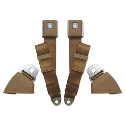 1966-72 Chevelle Front Retractable Lap Belts - Economy Buckles