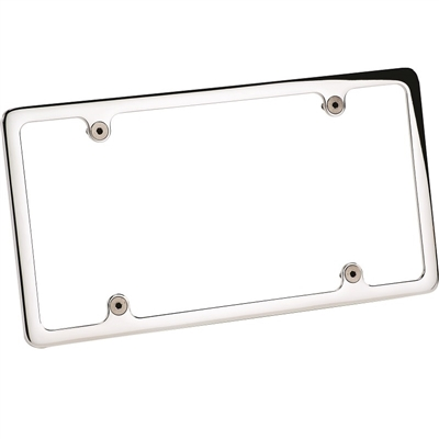 Billet License Plate Frame Plain Polished