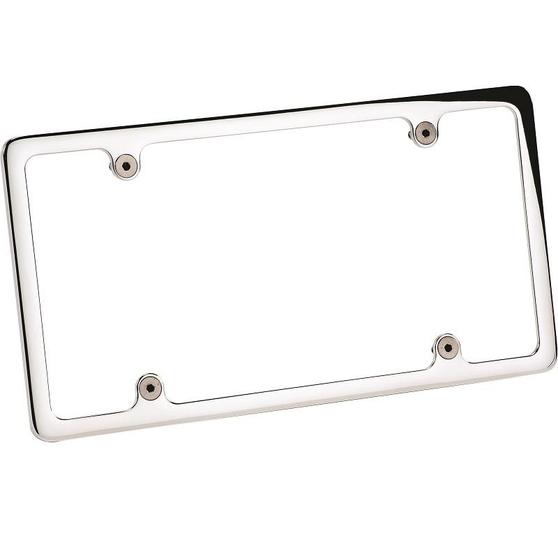 License Plate Frame Plain Polished