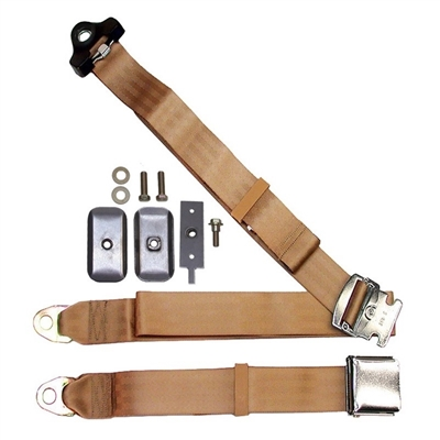 Chrome Lift Latch Non-Retractable Shoulder Belt