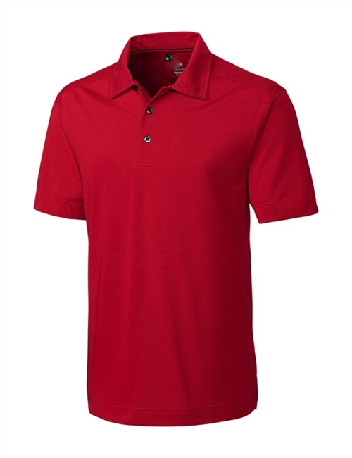 Red Polo shirt US Made, 100% Pique Cotton