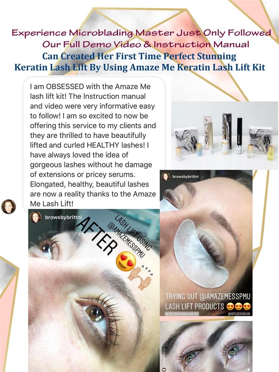 Amaze Me Premium Keratin Lash Lift Kit (Provide with Full Demo Video)