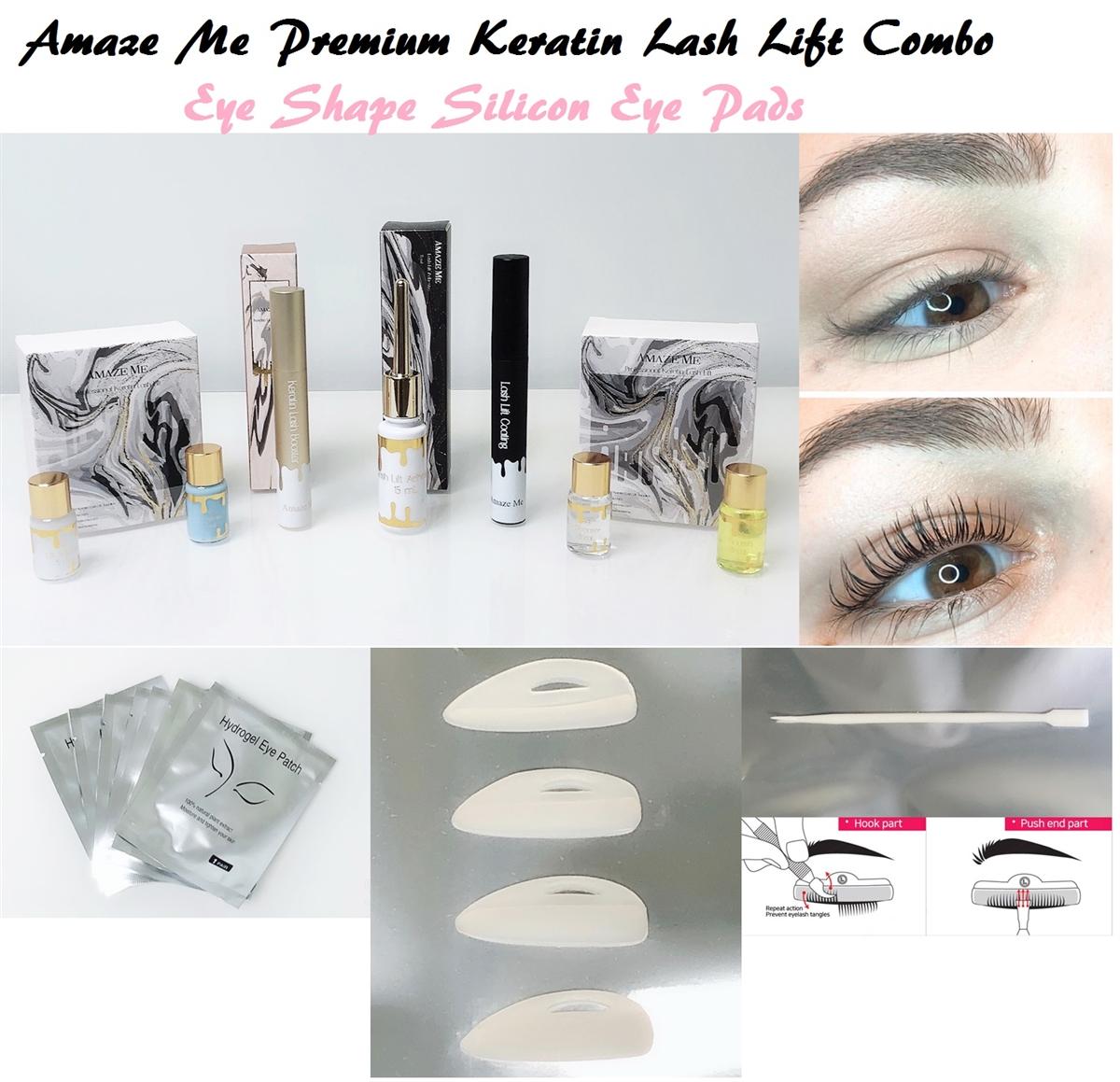 d8dd508d9f9 Combo Pack Premium keratin Lash Lift Full Kit (Eye Shape Silicon ...