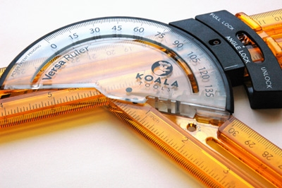 Versa Ruler - 2 Ruler + Protractor Set