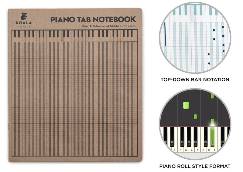 Piano Tab Notebook