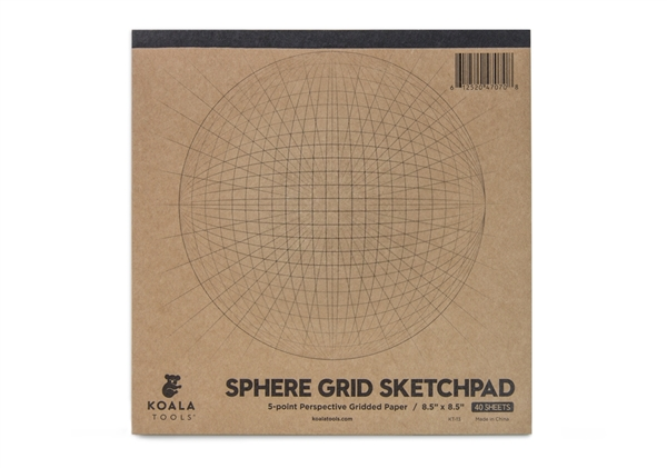 Sphere Grid (5-point Perspective) Sketch Pad
