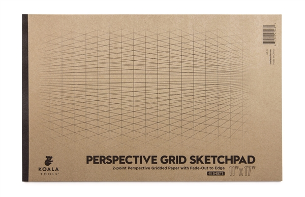 2-point Perspective Large Sketch Pad