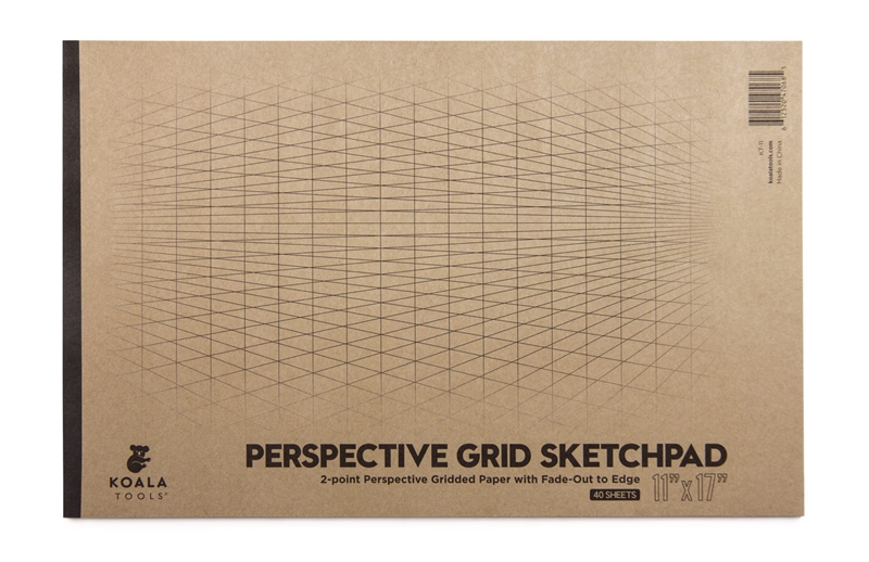 "2-point Perspective Large Sketch Pad (11"" x 17"")"