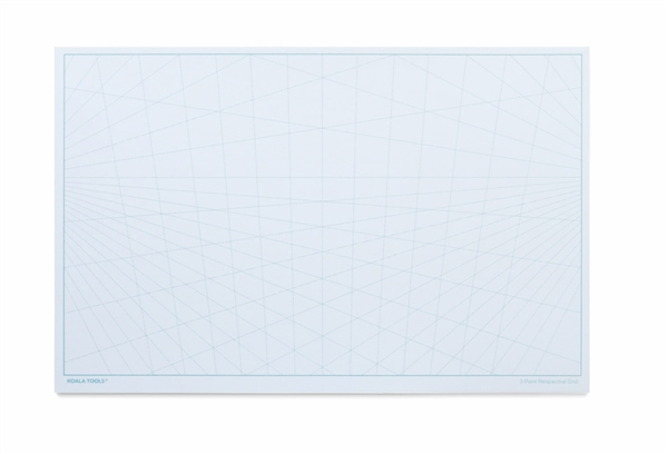 3-point Perspective Grid Notepad