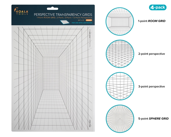 Perspective Transparency Grid Set