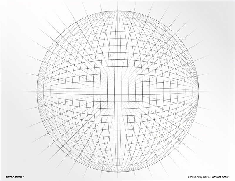 5-point Perspective SPHERE GRID Transparency Sheet
