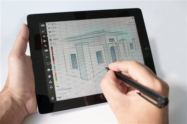 2-point Perspective Static-Cling Grid for Tablets