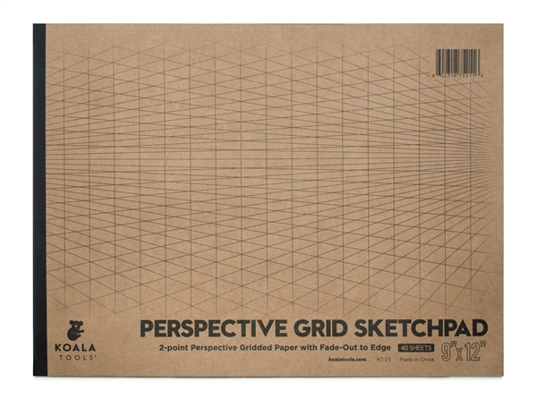"2-point Perspective 9"" x 12"" Sketch Pad"