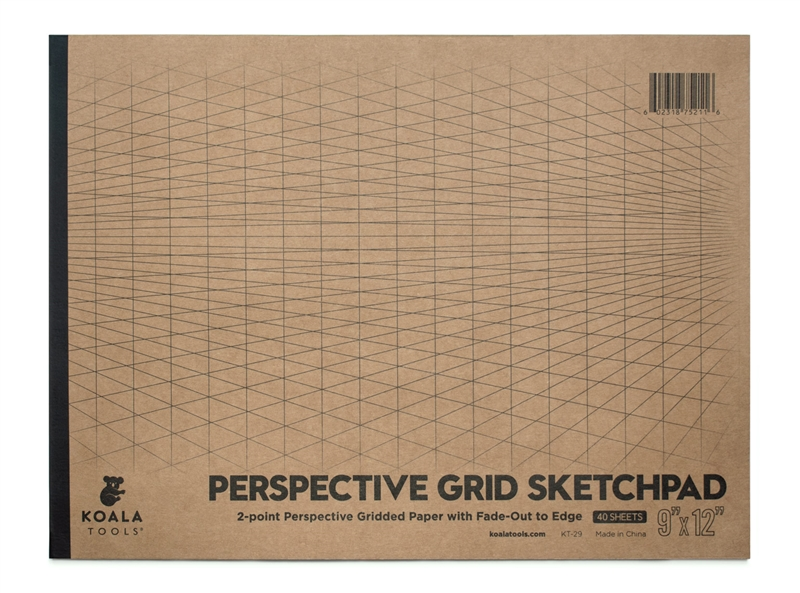 "2-point Perspective Sketchpad (9"" x 12"")"