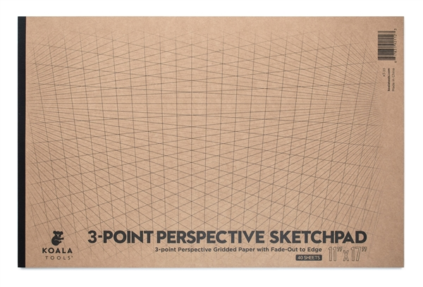 "3-point Perspective Sketchpad (11"" x 17"")"