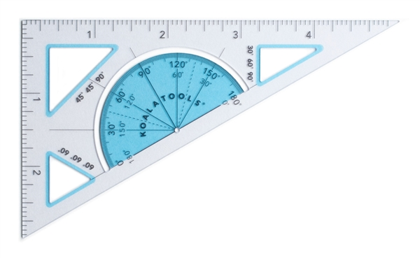 30-60-90 Right Triangle Ruler (5-inch)
