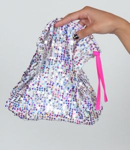 B315B-MWT - Multicolor Sequin Money Bag
