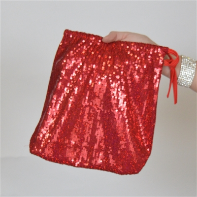 B315B-RD - Sequin Money Bag (Red)
